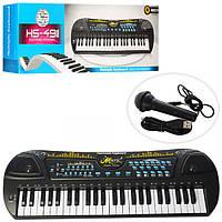 Синтезатор HS4911, 49клавиш, микрофон, USBзарядн, запись, демо, на бат-ке, в кор-ке, 66, 5-24-10см
