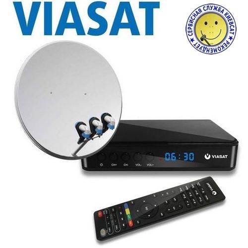 VIASAT TV Box + Спутниковый комплект