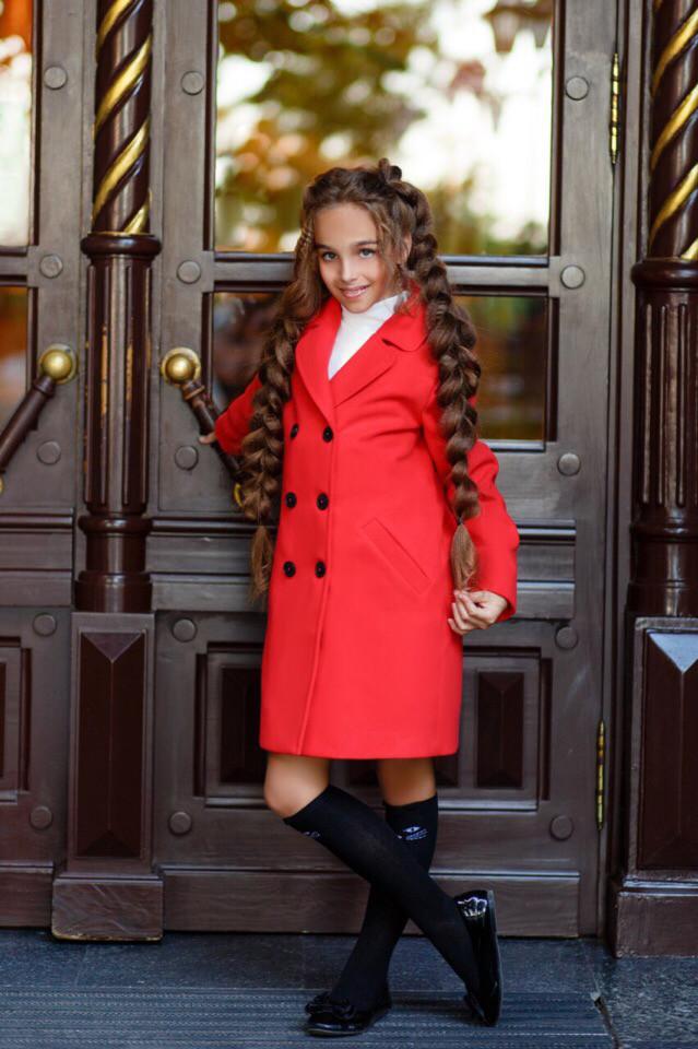 Пальто LiLove 367-1 146 красный