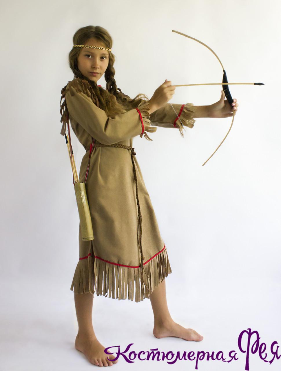 Индианка, детский карнавальный костюм индейца для девочки (код 51/2)