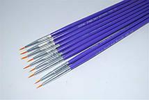 Набор кистей для рисования (9шт.бел.-сирен ручка)