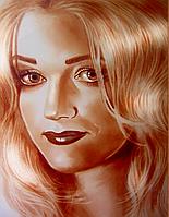 Портрет (сухая кисть)