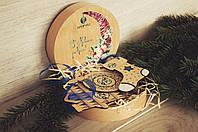 Новорічний набір дерев'яних ялинкових іграшок, фото 1