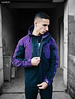 Фиолетовая мужская весенняя куртка Staff navigator purple and black, фото 1
