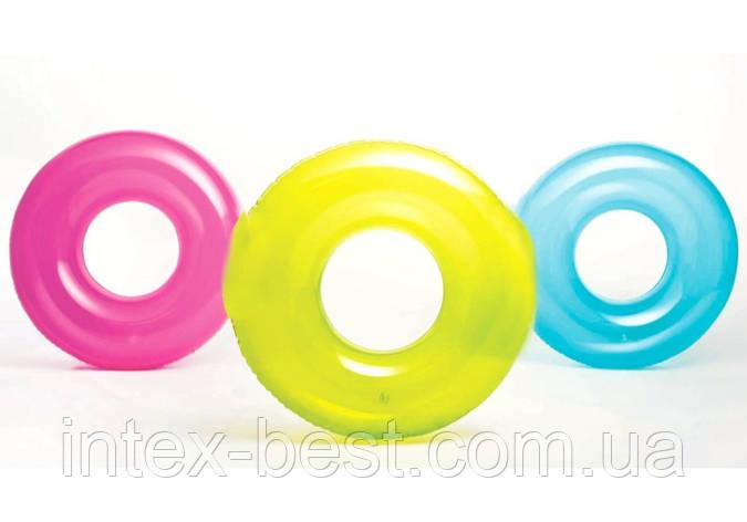 Intex 59260, надувной круг прозрачный 76 см, фото 2