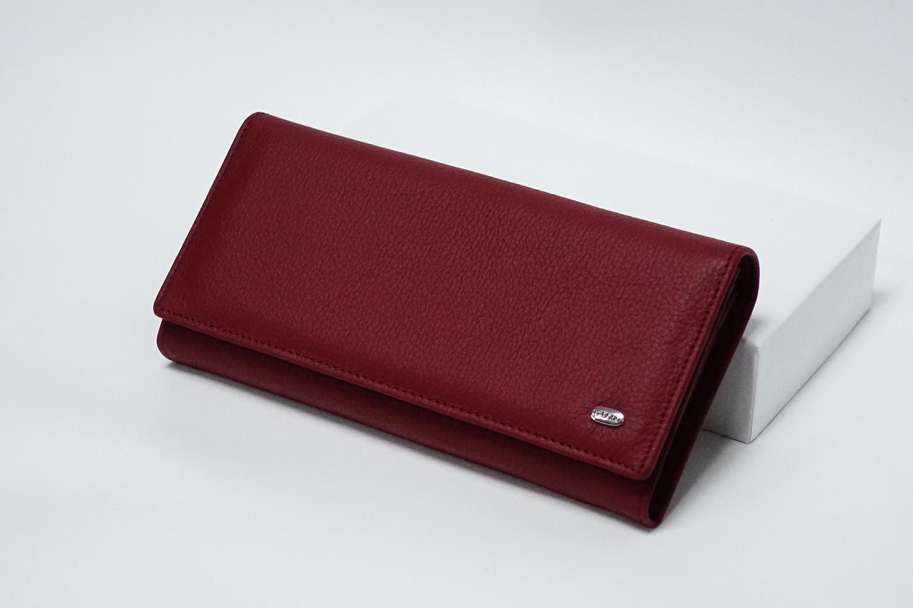 Кожаный кошелек Dr.Bond W501-2 Red на магните