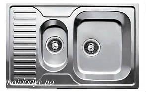 Мойка кухонная с нержавеющей стали Della 500 x 780 микродекор