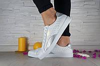 Женские кожаные белые кеды Puma 10748