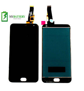 Дисплей (LCD) Meizu M2/M2 mini с сенсором черный большая микросхема 6x6 mm
