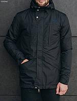 Черная мужская весенняя куртка Staff Wind black, фото 1