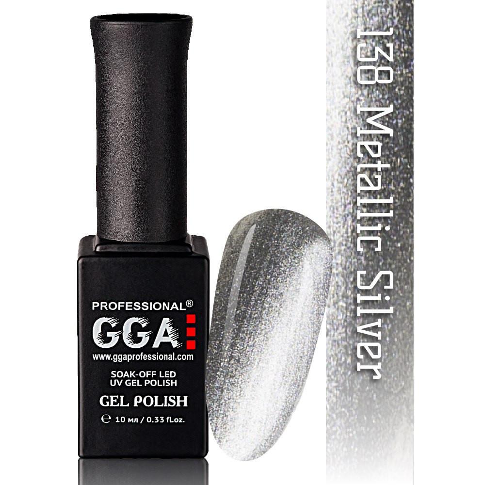 Гель-лак GGA Professional №138 Metallic Sikver  10 мл.