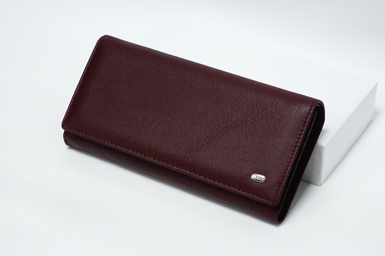 Кожаный кошелек Dr.Bond W1-V-2 Scarlet на магните