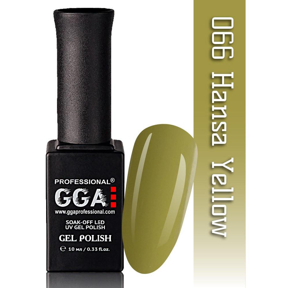 Гель-лак GGA Professional №66  Hansa Yellow 10 мл.
