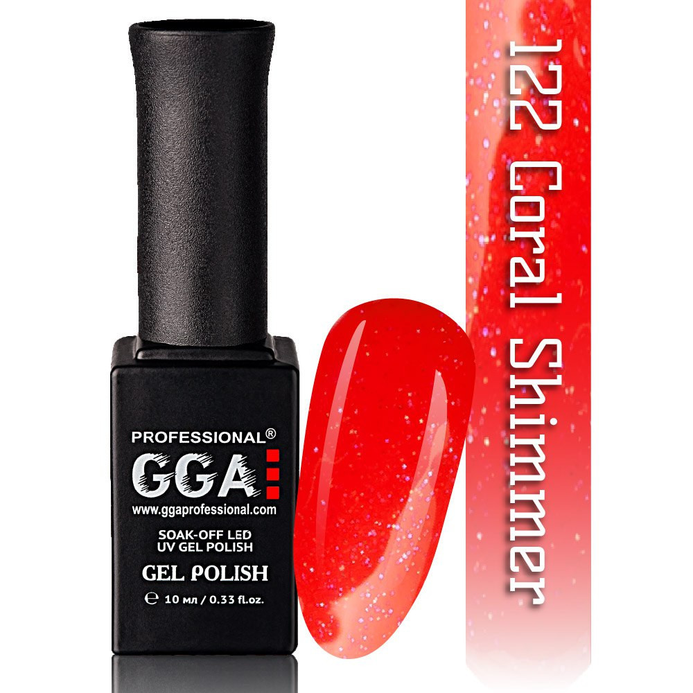 Гель-лак GGA Professional №122 Coral Shimmer 10 мл.