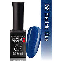 Гель-лак GGA Professional №132 ELECTRIC BLUE 10 мл.
