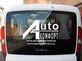 Заднее стекло (ляда) без э. о. и с отверстием на Fiat Doblo 2010- (Фиат Добло 2010-)