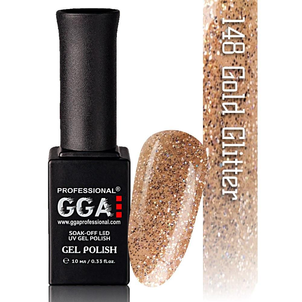 Гель-лак GGA Professional №148   Gold Glitter 10 мл.