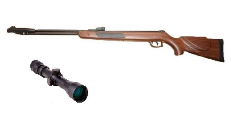 Пневматическая винтовка Kral 002 дерево с усиленной газовой пружиной прицел 3-9х32 Sniper AR