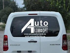 Заднее стекло (распашонка левая) без электрообогрева на Peugeot Partner, Citroën Berlingo 08-