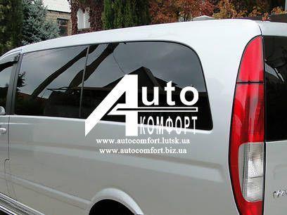 Задний салон, левое стекло, средняя база (long) на автомобиль Mercedes-Benz Vito 04- (Мерседес Вито 04-)