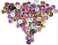 Пластиковые яркие пуговицы, набор 25 шт., фото 1