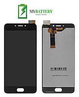 Дисплей (LCD) Meizu M6 с сенсором черный
