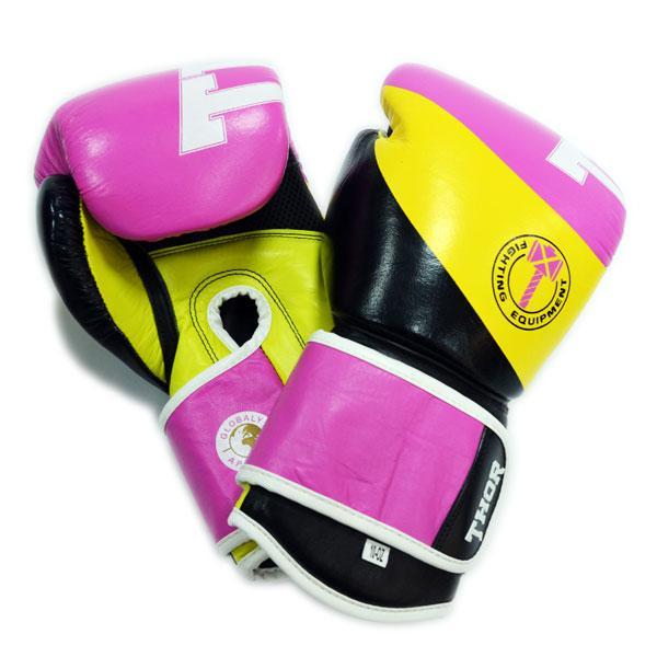 Боксерские перчатки THOR KING POWER(PU)BLK/PINK