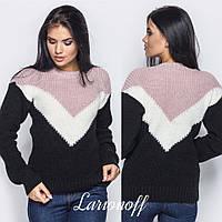 Прямой женский свитер с карманом на груди 4sv388