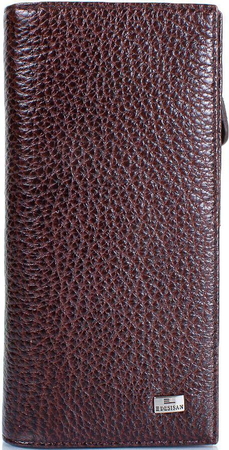 Жіночий шкіряний гаманець Desisan темно-коричневий