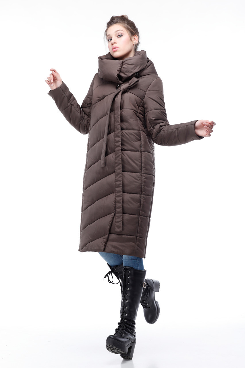 Стильное стеганое зимнее пальто для сильных морозов размеры от 42 до 54-56