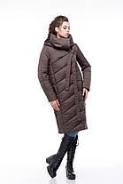 Стильное стеганое зимнее пальто для сильных морозов размеры от 42 до 54-56, фото 2