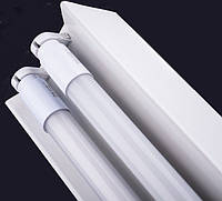 Светильник магистральный LINE150/2 1,5м (под LED лампу T8) 2x1500мм Белый металл