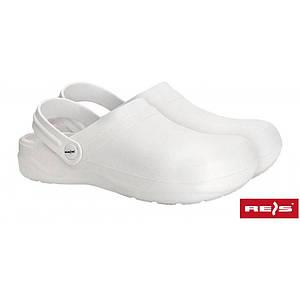 Защитные босоножки BCLAB W выполнены из ЭВА, белого цвета. REIS