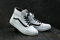 Мужские зимние кеды Vans Old Skool  Белые 118W-M1_bel(реплика)