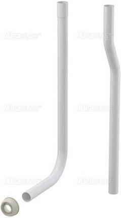 Водосливная труба, состоящая из двух частей d=32 мм + прокладка гофрированная, фото 2