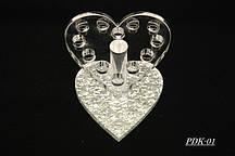 Подставка для кистей Сердце