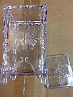 Подставка для безворсовых салфеток (непрозрачные розовая и фиолетовая)