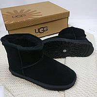 Угги женские UGG Australia, замша, набивная шерсть, код товара TG-№1. Черные