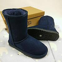 Угги женские UGG Australia, замша, набивная шерсть, код товара TG-№4. Синие