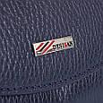 Женский кошелек Desisan, кожаный, темно-синий, фото 7