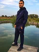 Мужской спортивный костюм Nike синий Турция реплика, фото 2