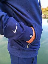 Мужской спортивный костюм Nike синий Турция реплика, фото 3