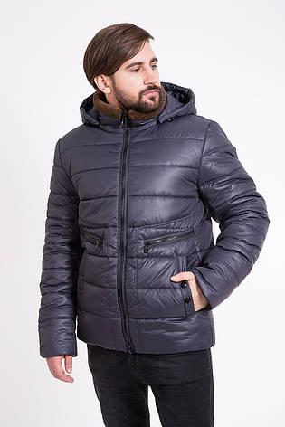 Теплая мужская куртка T-Z-2K с капюшоном синяя (#374) 46 размер, фото 2