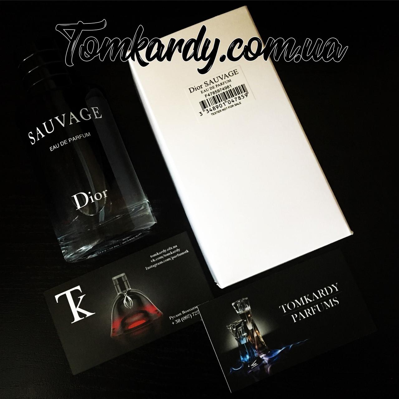 Dior Sauvage Eau De Parfum Tester 100 Ml продажа цена в