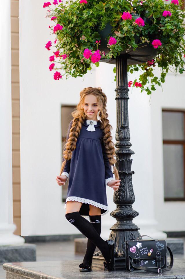 Платье LiLove 369-1 140 синий