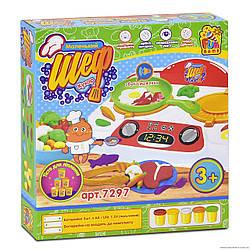 Тесто для лепки Маленький Шеф кухар для детей от 3 лет, код 7297