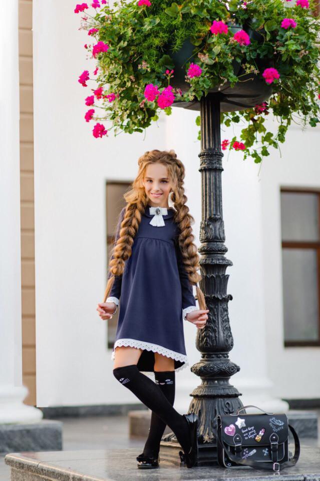 Платье LiLove 369-1 146 синий