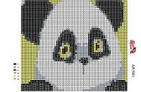 Алмазная вышивка «Панда». АВ-5011 (А5). Полная выкладка
