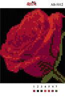 Алмазная вышивка «Роза». АВ-5012 (А5). Полная выкладка