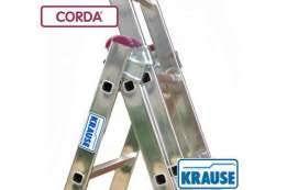 Трехсекционные лестница 3*9 KRAUSE Corda алюминиевая универсальная